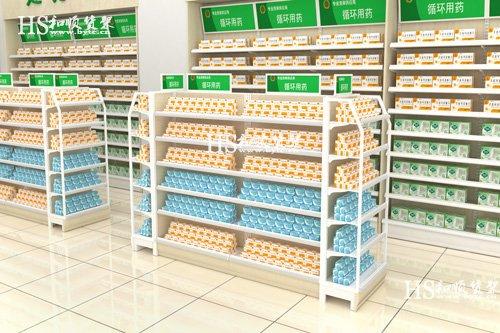 药店里面的架子是怎么安装的?