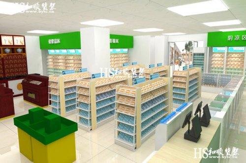 药店货架药品堆头陈列的几种形状