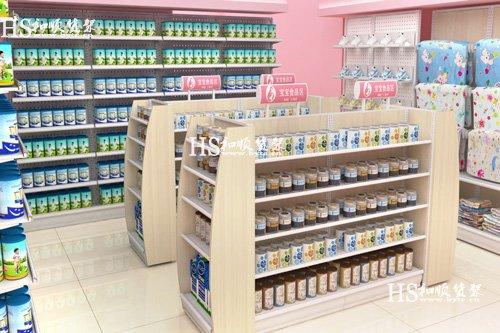 婴幼儿卖场一般都用什么颜色母婴店货架